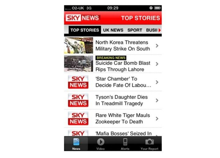 Sky News app arrives for iPhone | Following the success of ITN's news app on the iPhone, Sky News has finally got in on the act and unveiled its own free application for Apple's handset. Buying advice from the leading technology site