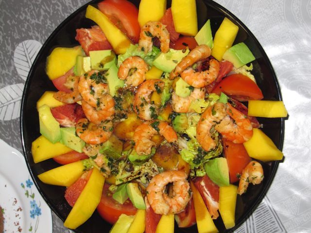salade antillaise aux crevettes food salad pinterest. Black Bedroom Furniture Sets. Home Design Ideas