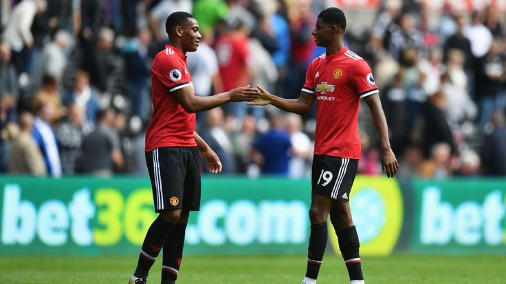 Who's winning the Rashford-Martial competition?