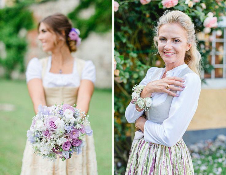 Ideen, wie ihr das Styling von Braut und Brautmutter passend aufeinander abstimmen könnt, am Beispiel von Tracht und Brautdirndl. |  [S♥]