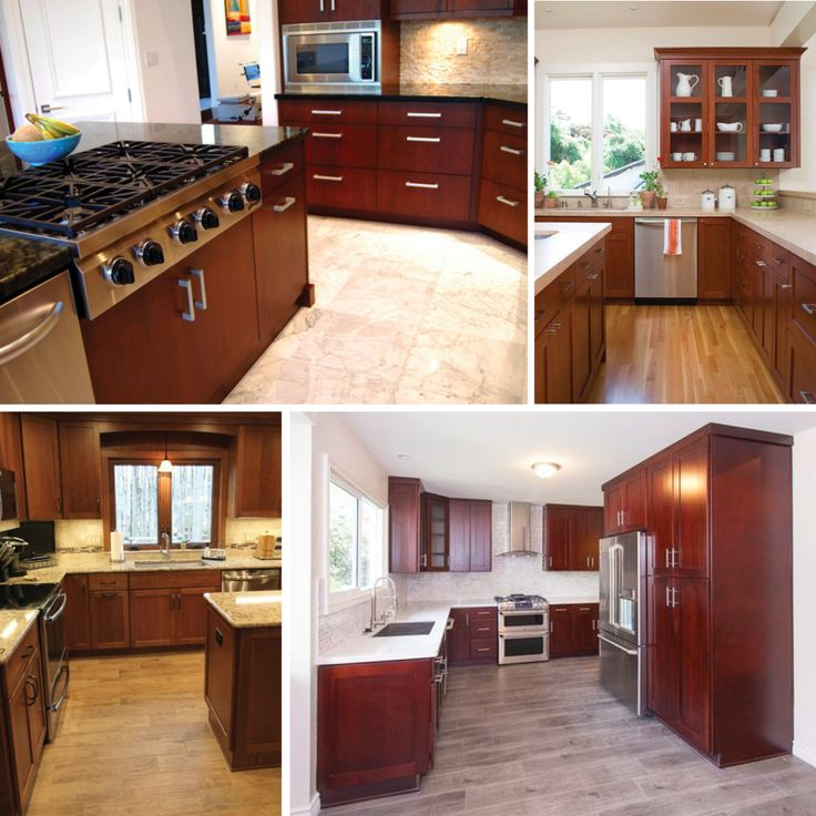 Gray Wood Flooring Kitchen: Cherry Kitchen Cabinets, Cherry Kitchen And Brown