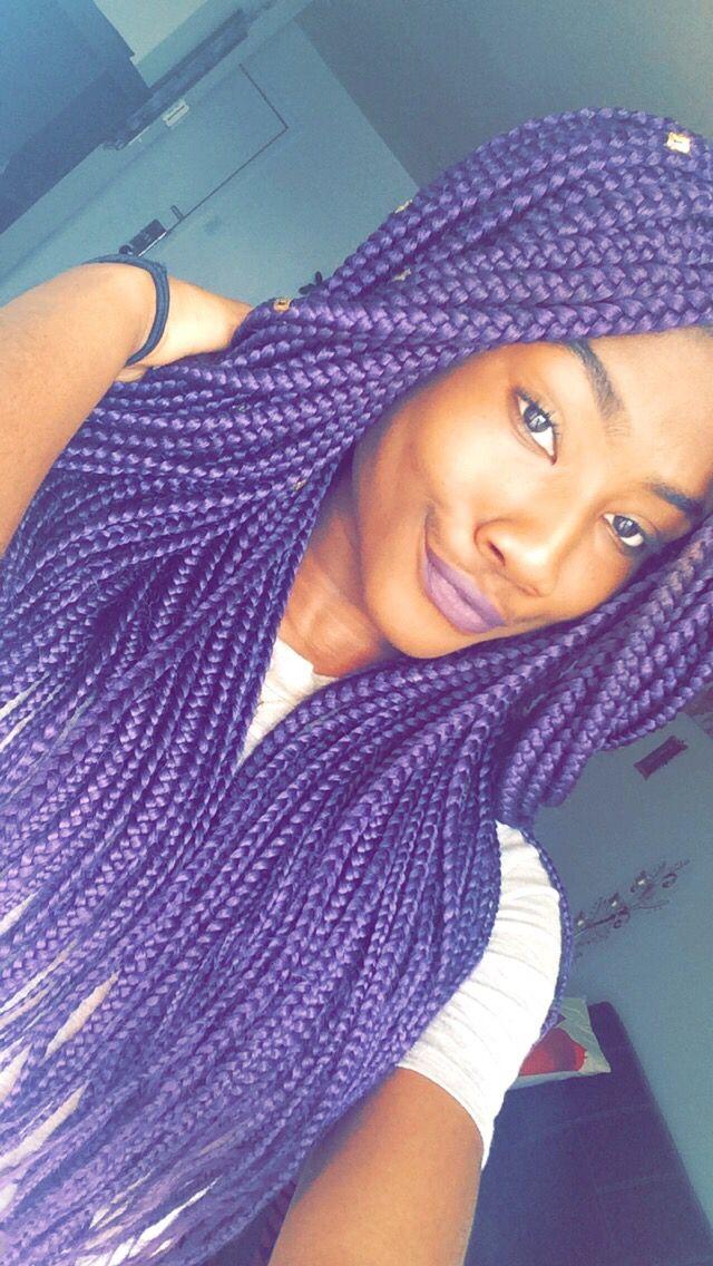 Purple box braid