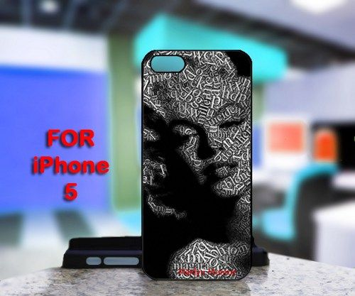 Marilyn Monroe Portraits Written For IPhone 5 Black Case Cover