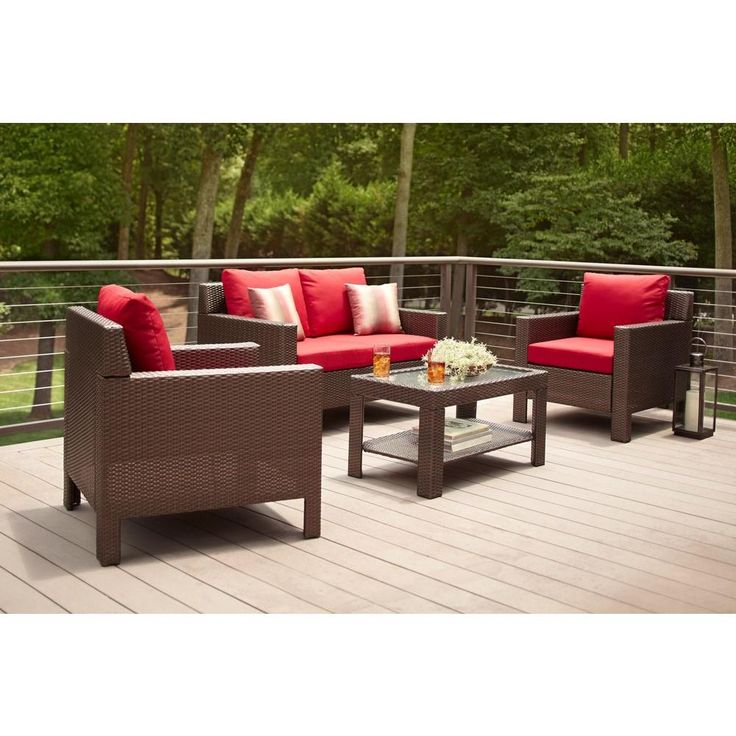 1000 Ideas About Hampton Bay Patio Furniture On Pinterest Small Condo Square Tables And