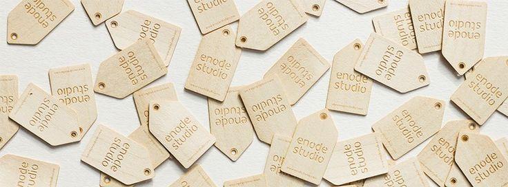 Drewniane tagi zrobione przez enode studio / Wooden tags make by enode studio
