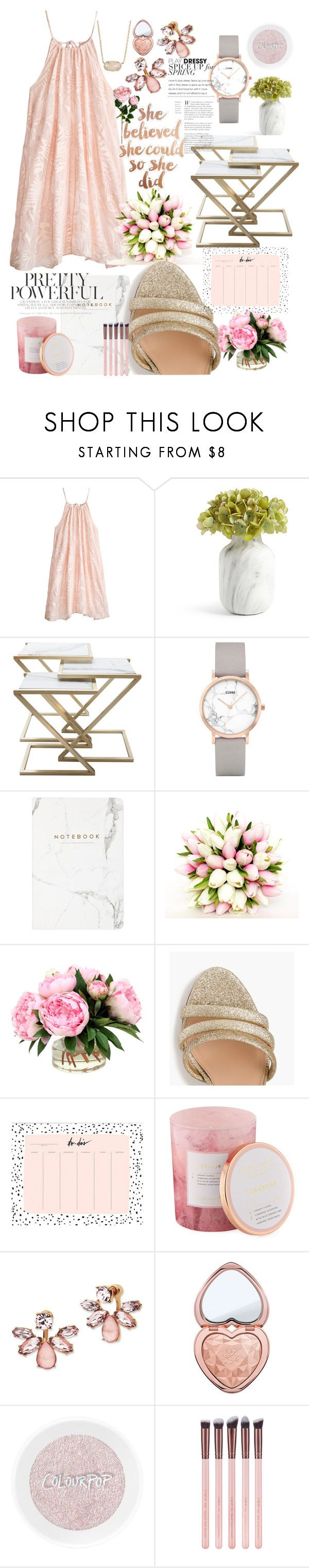 """Dreamy glamour"" by averytheleapinglizard ❤ liked on Polyvore featuring Calypso St. Barth, CLUSE, Eccolo, J.Crew, D.L. & Co., Marchesa, Too Faced Cosmetics and Kendra Scott"