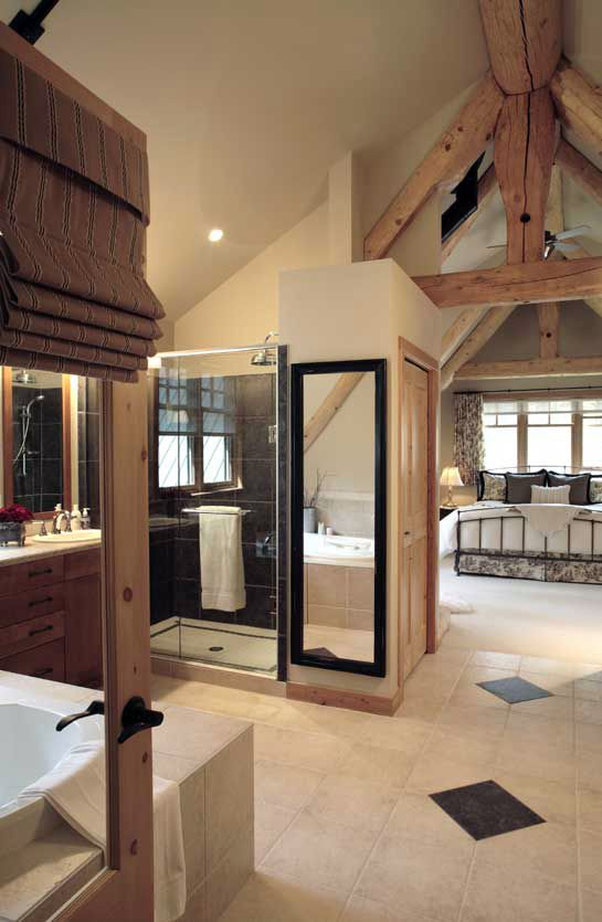 pictures of log home bathrooms