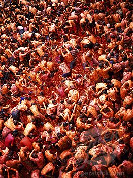 Throw tomatoes at La Tomatina. La Tomatina is an awesome annual festival that takes place in the town of Bunol, Spain on the last weekend of August.
