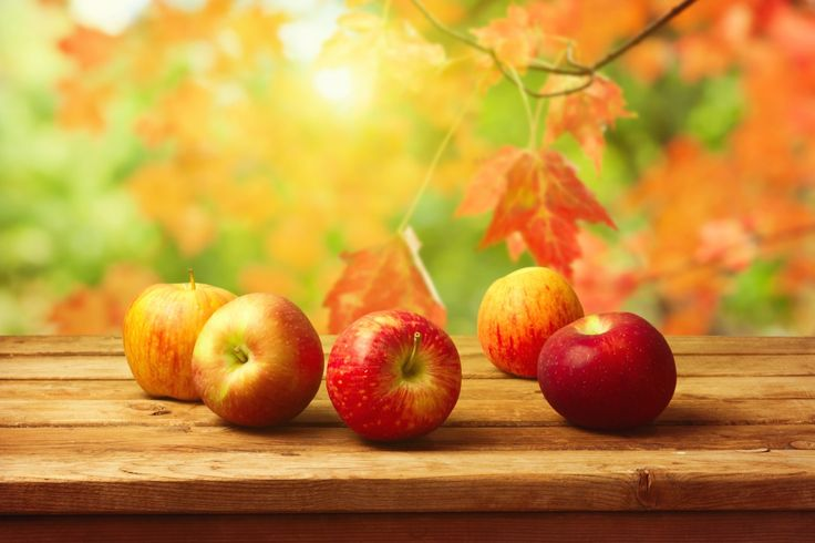 Fruits Pommes Automne Feuillage Nourriture