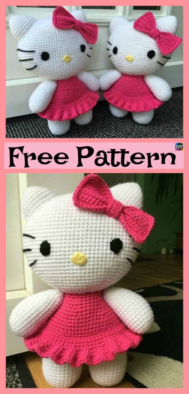 Adorable Crochet Hello Kitty Free Pattern Amigurumi Love