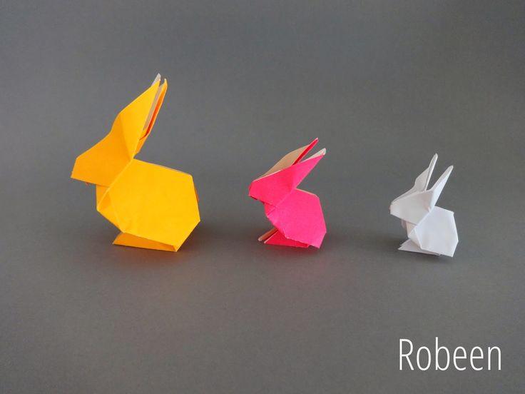 origami rabbit ostern pinterest ostern diy ostern und basteln. Black Bedroom Furniture Sets. Home Design Ideas