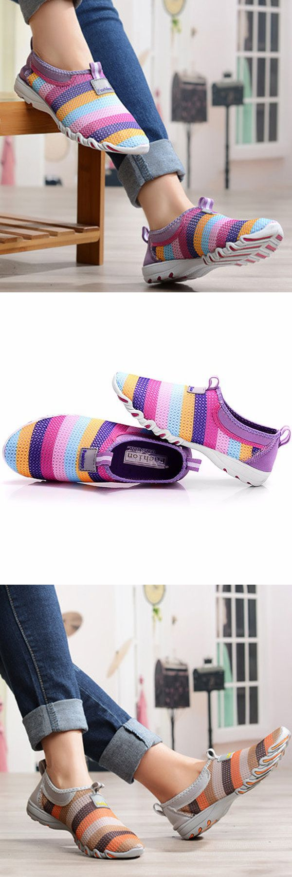 US$27.43 + Free shipping. US Size 5-13 Female Sports Shoes, Comfy, Breathable.Color: Red, Purple, Gray. A colorful gift for the coming summer!