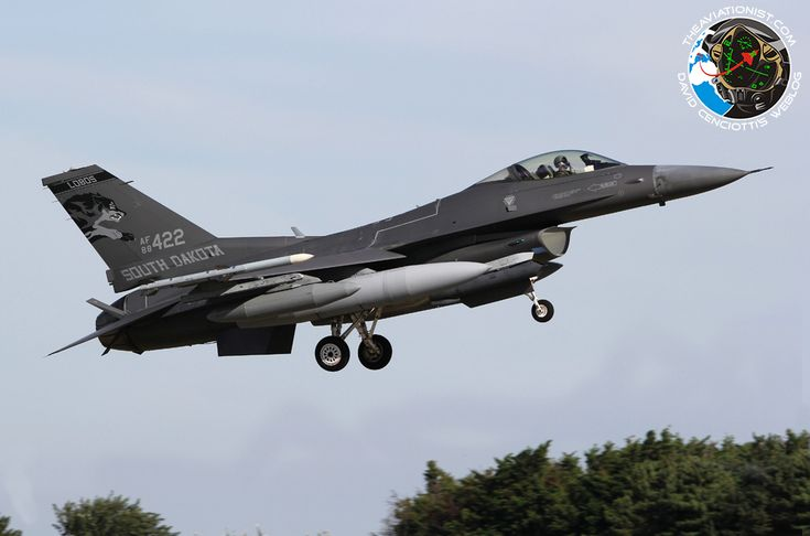 The Aviationist » South Dakota ANG F-16C jets (including one in new F-35-like dark grey color scheme) arrive at RAF Mildenhall