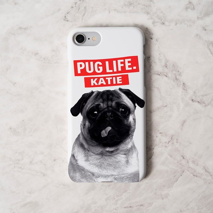 Personalised iPhone Snap Cover - Pug Life | GettingPersonal.co.uk