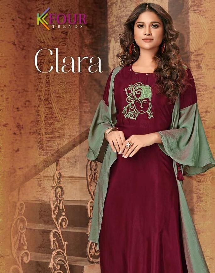 255e303128 kfour trends clara designer party wear kurtis wholesale clothing store in  surat - Krishna Creation