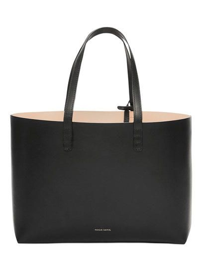 MANSUR GAVRIEL - BORSA SHOPPING PICCOLA IN PELLE - LUISAVIAROMA - LUXURY SHOPPING WORLDWIDE SHIPPING - FLORENCE