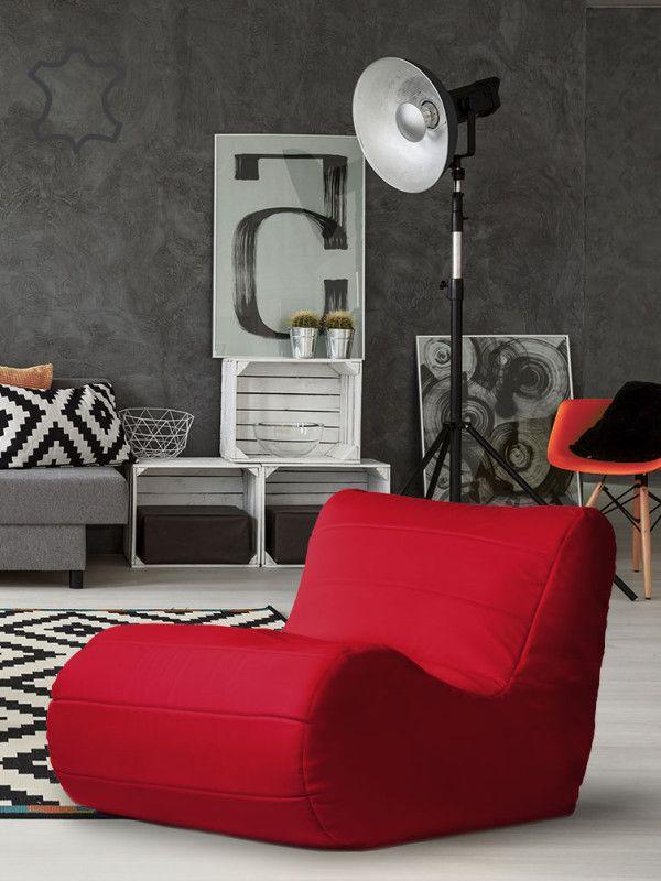 Fotel Savoy Ekoskora Czerwony aranzacja PufaShop