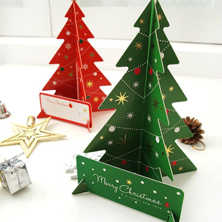 Barato 3D Árvore Do Feliz Natal Cartão de Mensagem de Saudação Cartões Postais Presente de Aniversário Conjunto Terno Cartão de Ação De Graças 2, Compro Qualidade Cartões de saudação diretamente de fornecedores da China: