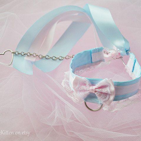 Principessa rosa e blu collare e catena di TheLittlePinkKitten