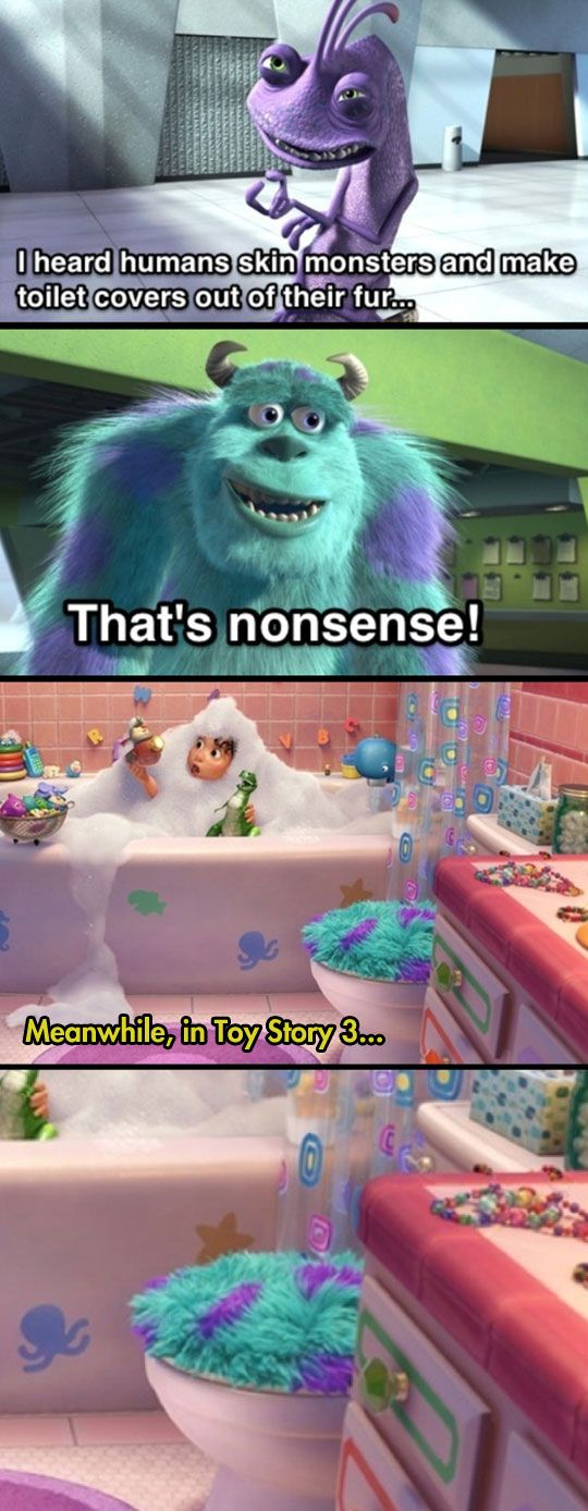 One of Pixar's darkest jokes...I need to watch it again and see if it's really there