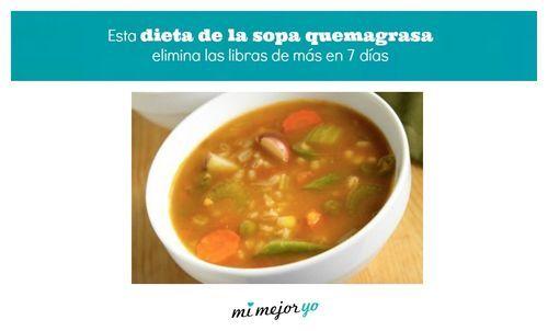 Esta dieta de la sopa quemagrasa elimina las libras de más en 7 días