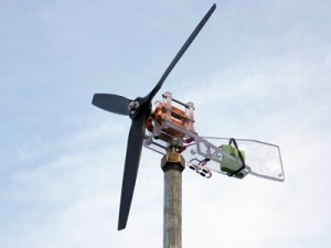 Mini wind turbine that you can build yourself.