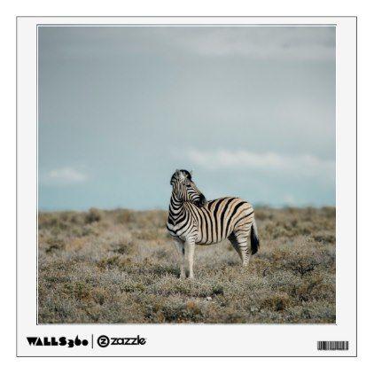 Plains Zebra   Equus burchellii Wall Sticker - walldecals home decor cyo custom wall decals