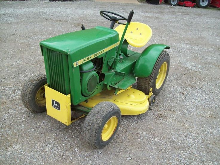 Antique John Deere Lawn Tractors : Best images about restored riding lawnmower on