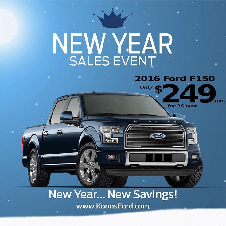 Ever consider a lease? You should. Only $249/mo. for 36 Months on a New 2016 Ford F150 SuperCab 4x4 EcoBoost with/Sport Pkg. Visit www.KoonsFord.com or call (410) 224-2100. We'll be happy to schedule a test drive or answer any question you may have. Ford Credit Red Carpet Lease $2799 due at signing. Security deposit waived. Taxes title and license fees extra. Not all buyers will qualify for Ford Red Carpet Lease. Residency Restrictions apply. See dealer for additional details. Expires…