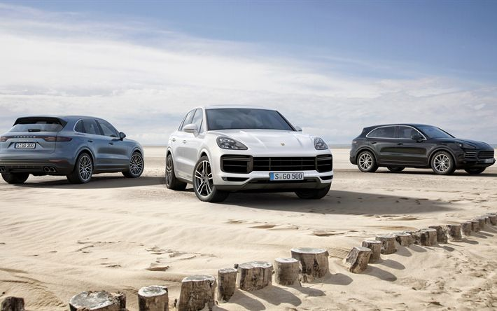 Download wallpapers Porsche Cayenne S, 2018, 4k, sports off-road cars, facelift, new Cayenne, German cars, Porsche