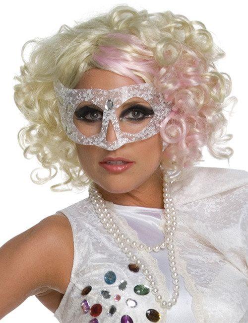Verrückte Locken-Perücke blond-pink