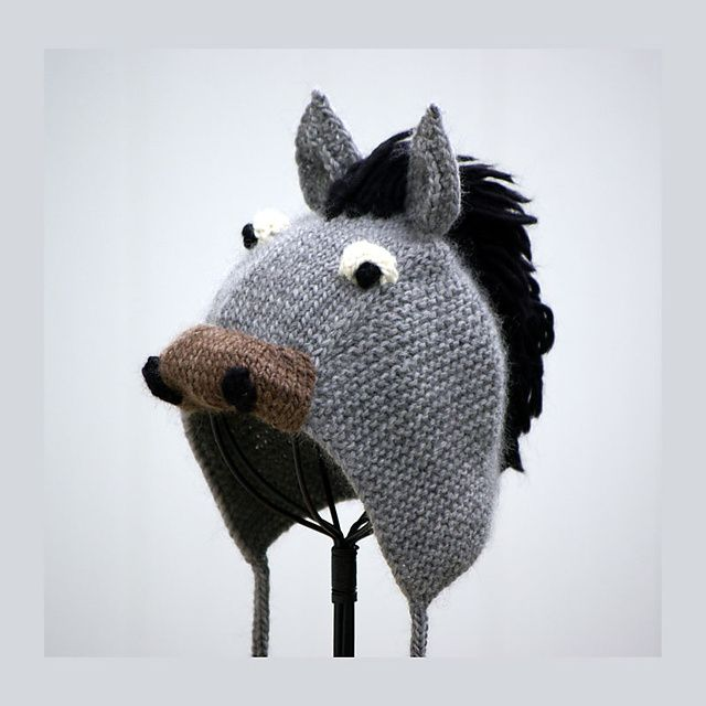 Knitting Pattern For Donkey Hat : 57 best Gorros images on Pinterest