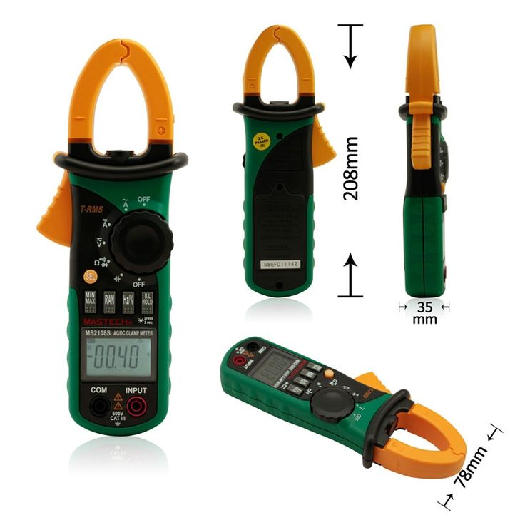 39.99$  Watch now - http://aifrd.worlditems.win/all/product.php?id=32611875789 - MASTECH MS2108S Digital AC DC Current Clamp Meter True RMS Multimeter Capacitance Frequency Inrush Current Tester VS MS2108