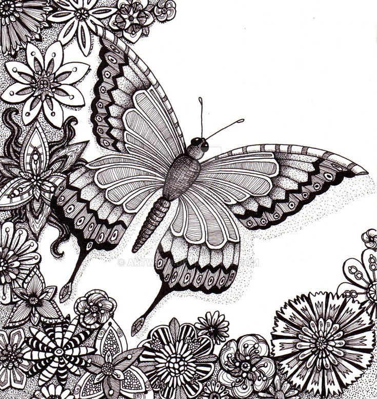 flutter by butterfly 25aug12 by artwyrddeviantartcom on deviantart flower coloring pagesadult coloring
