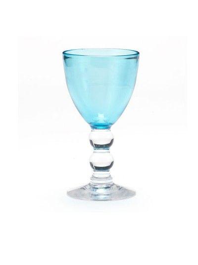 Aqua wine goblets