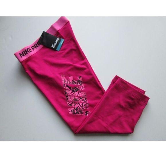 New Nike Pro Women's Training Leggings NEW WITH TAGS. Pink. Nike Pants Leggings