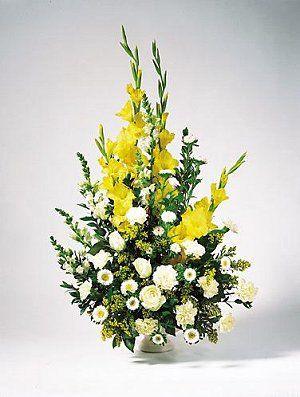 Extra Large Flower Arrangements | arrangements,traditional tributes (shown), upright sprays placed on ...