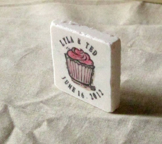 Cupcake Wedding Favors Save the Date Magnets Set by MyLittleChick, $61.25