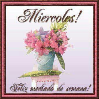 Feliz Miércoles y muy buenos días para todos amigos ya en el ombligito de la semana así que a ponerle todas las ganas a este día.  ,`•.¸¸.•´´•:´¨`*:•.••.¸ (\ /) ( . .)  ☻Good Morning☻~♥. c(')(')
