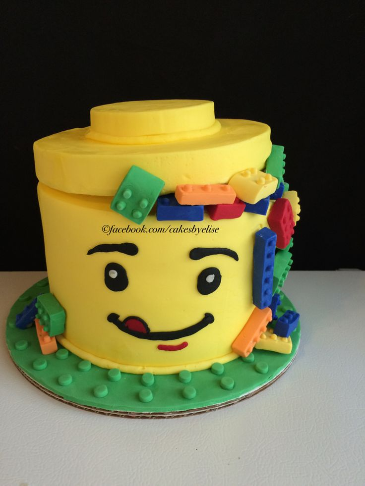 how to make a lego head cake with fondant
