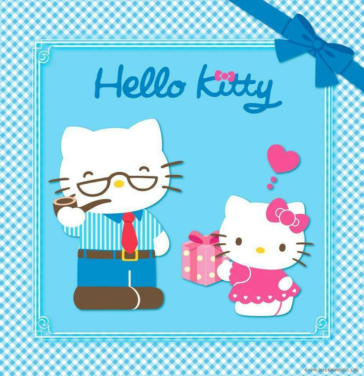祝 各位 爸爸 , 準 爸爸 , 爸爸節 快樂 | Hello kitty wallpaper, Sanrio hello kitty, Hello kitty