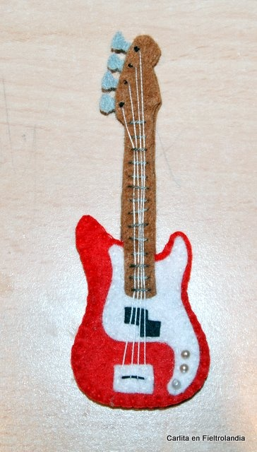 guitarra fieltro