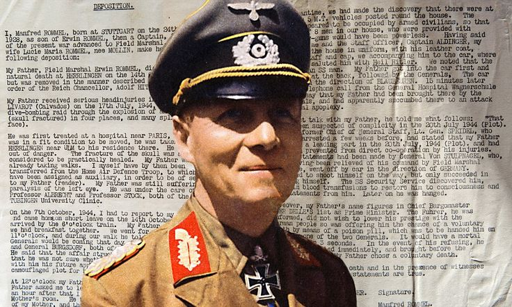 Death of the Desert Fox: Rommel's son's account of his father's last moments after Hitler ordered him to take a cyanide pill or be arrested