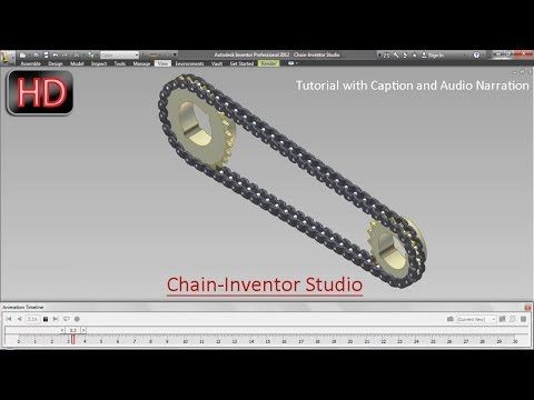 Chain-Inventor Studio (Video Tutorial with Audio Narration) Autodesk Inventor - YouTube