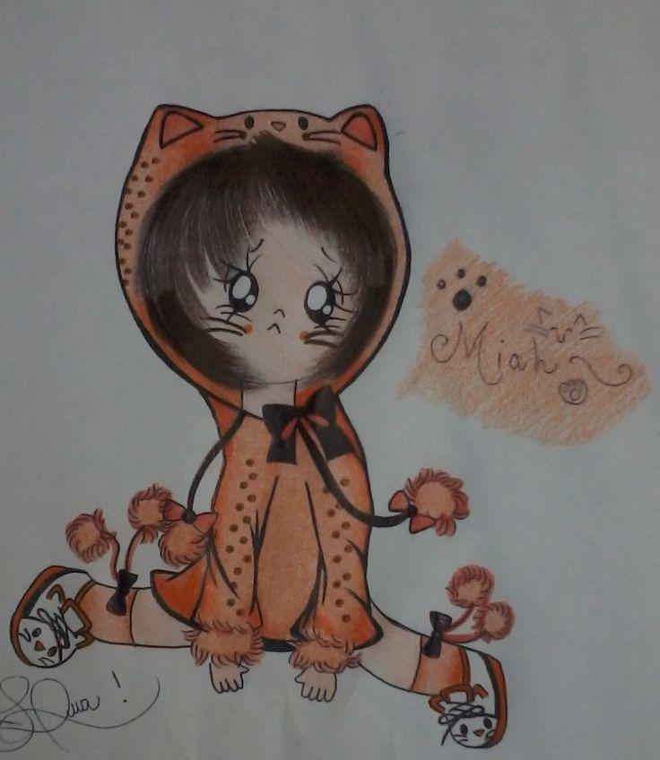 Miah!  #neko #babyneko #chibineko #chibi #baby #drawing #desenho #kitten #kigurumi #meow #miah @luamiki