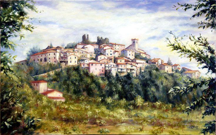 paesaggio (Bibola) - olio