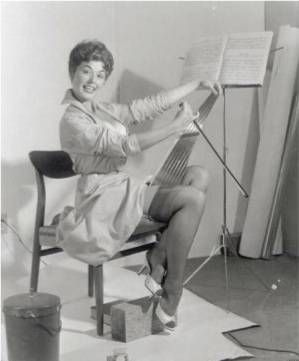 Who Were Models for Gil Elvgren | Photo the artist took of the model he used for painting this painting: