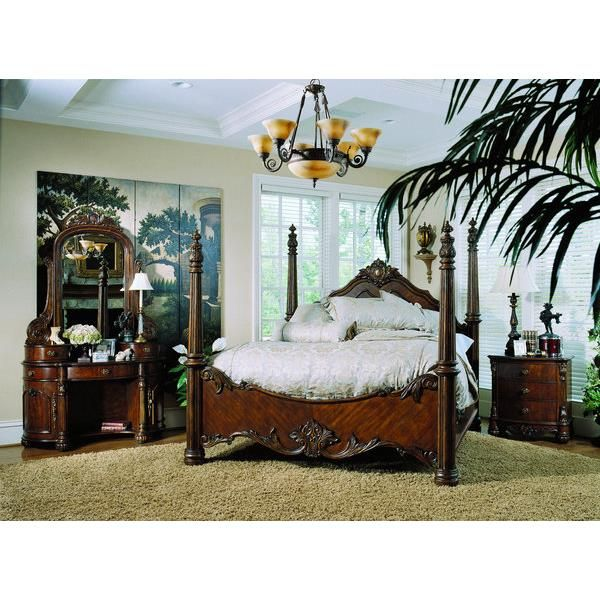 Pulaski Pulaski Edwardian King Poster Bed, Offered By Pulaski Furniture,  Browse Our Great Selection Of Wood Beds