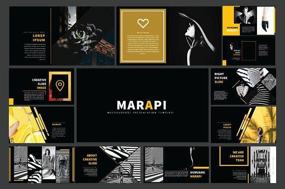 Marapi - Mulitipurpose Powerpoint by Rits Studio on @creativemarket
