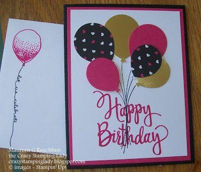 Balloon Celebration, Stylized Birthday, Stampin' Up!, Melon Mambo, Balloon Punch, www.crazstampinglady.blogspot.com, Maureen Rauchfuss